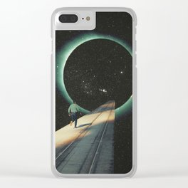 Escaping into the Void Clear iPhone Case