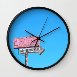 Drugs, 1/2 Block Wall Clock