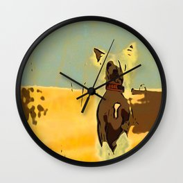 Chinese crested 4 Wall Clock