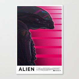 Neon ALIEN Canvas Print