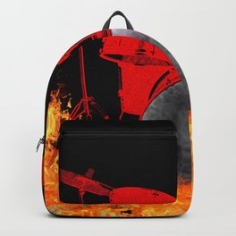 Flaming Red Drum Set Backpack