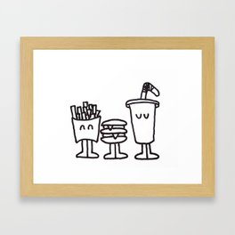 Fast Food Buddies Framed Art Print