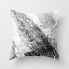 Granite World White  Throw Pillow