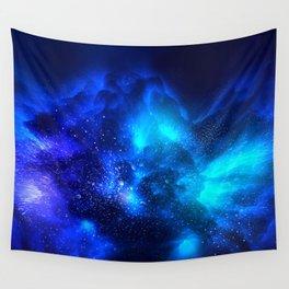 Abstract Nebula #7: Blue bang Wall Tapestry