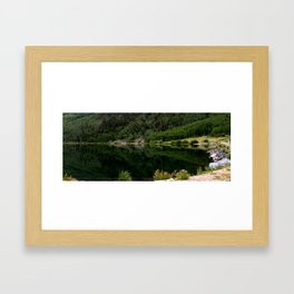 Evening Jade Reflections on Crystal Lake Framed Art Print