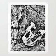 bone mask Art Print