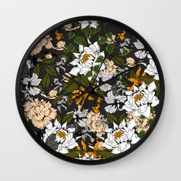 Blooming in autumn I Wall Clock