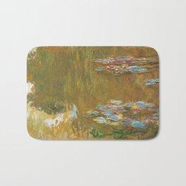 "Claude Monet ""The Water Lily Pond"", c.1917-19 Bath Mat"