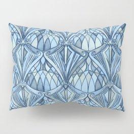 View From a Blue Window Pillow Sham