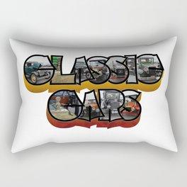 Classic Car Big Letter Rectangular Pillow