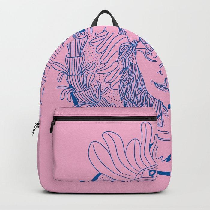 WORK HARD GIRL Backpack by happyhughouse  9b5972bcbfbdf