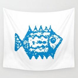 Fish blue pattern Wall Tapestry