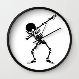 Dabbing skeleton (Dab) Wall Clock