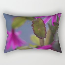 Magenta Blooming Cactus Rectangular Pillow