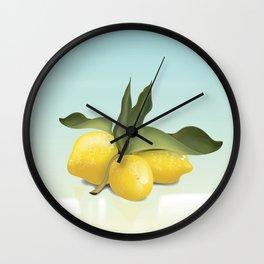 Vintage Lemons Wall Clock