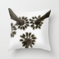 palm trees Throw Pillows featuring palm trees by Joao Bizarro