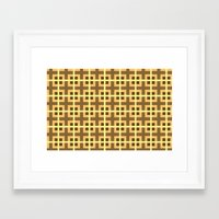 yellow pattern Framed Art Prints featuring Pattern Yellow by BobbyK