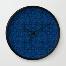 Lapis Blue Geometric Wall Clock