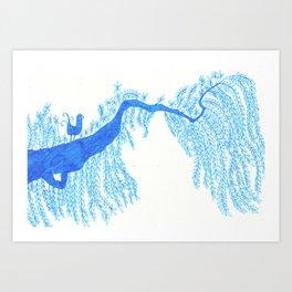 A songird and a tree Art Print