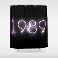 1989 Shower Curtains featuring 1989 (INSPIRED) by savingmypromises