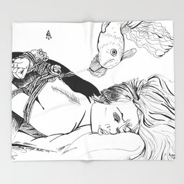 Kinbaku Shibari Throw Blanket
