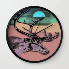 Afternoon Deer Wall Clock
