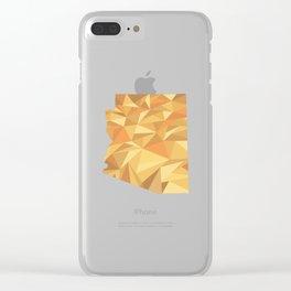 Arizona Pattern Map Art Clear iPhone Case