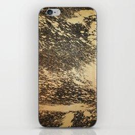Gold on Black iPhone Skin