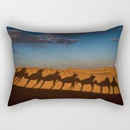 caravan camel desert morocco Rectangular Pillow