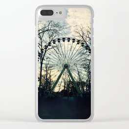 Ferris Wheel Filtered Clear iPhone Case