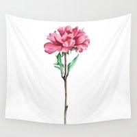 peony Wall Tapestries featuring Peony by Bridget Davidson
