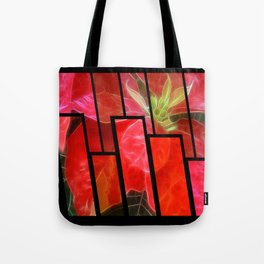 Mottled Red Poinsettia 1 Ephemeral Tinted 1 Tote Bag