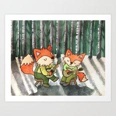 Fox Duo Art Print