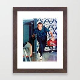 Richard Nixon Bowling Framed Art Print