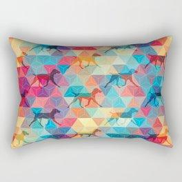 WEIMARANER AND TRIANGLES Rectangular Pillow