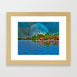 Lake Schliersee bavaria Germany Framed Art Print