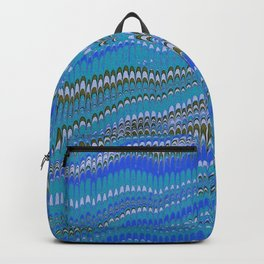 Electrified Ripples Blue Backpack
