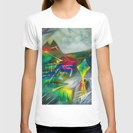 Sunset Landscape with Mountains by R. Matta T-shirt