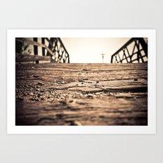 Old Train Bridge #2 Art Print