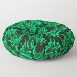 Fluorescent coral polyps reaching toward infinity Floor Pillow