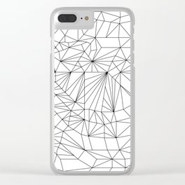 Geometric Adult Coloringbook Template 2 Clear iPhone Case