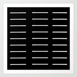Organic / Black Art Print