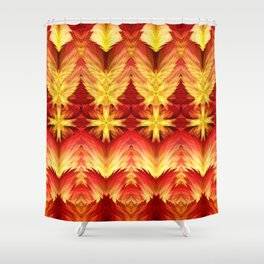 Emergence of Flame Mandala Shower Curtain