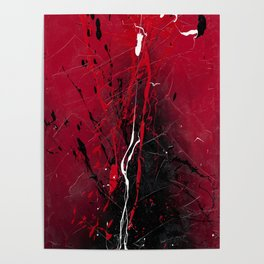 Rising - abstract painting by Rasko Poster