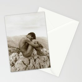 'Caino' Male Nude black and white photograph / black and white photography by Wilhem von Gloeden Stationery Cards