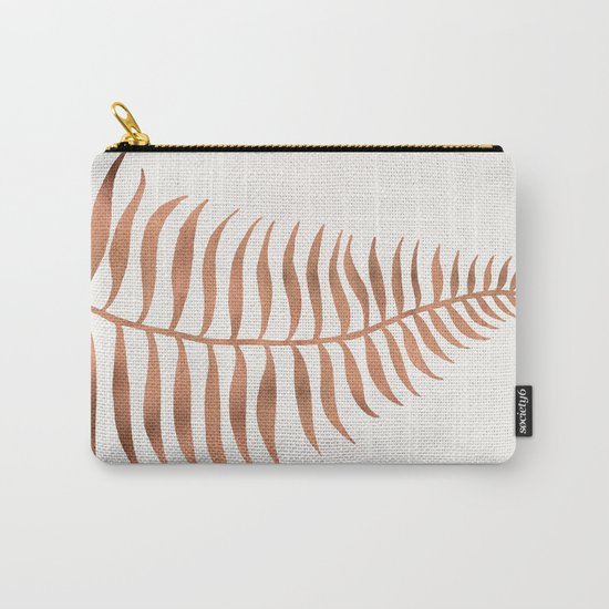 Palm Leaf – Rose Gold Carry-All Pouch
