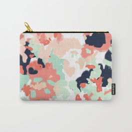 Suma - abstract gender neutral trendy home office nursery decor painting Carry-All Pouch