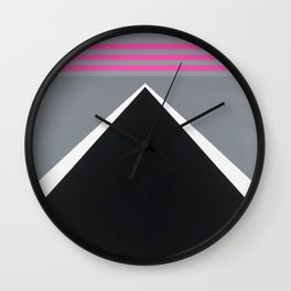 August - mirror pink Wall Clock