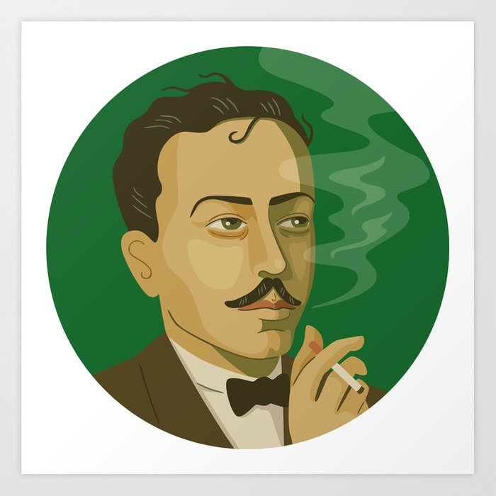 Queer Portrait - Tennessee Williams Art Print
