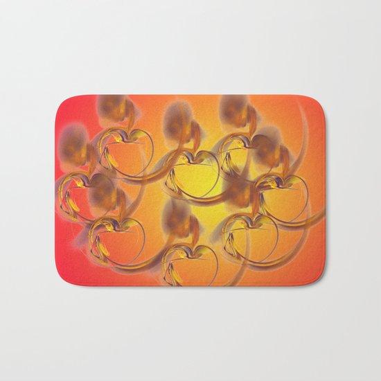 golden hearts Bath Mat